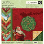 K and Company - Visions of Christmas Collection - 12 x 12 Specialty Paper Pad