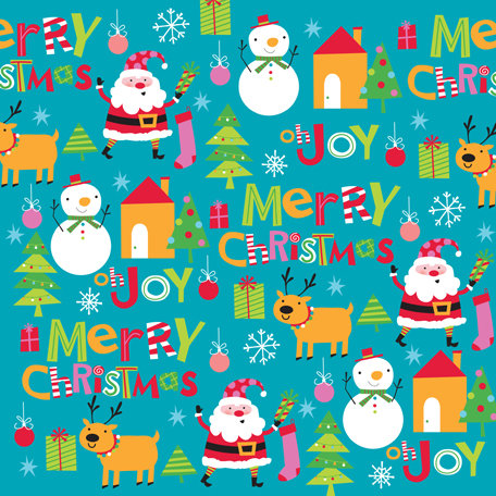 K and Company - Very Merry Collection - Christmas - 12 x 12 Paper with Glitter Accents - Christmas Icon