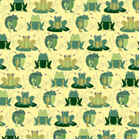 K and Company - Actopus to Zelephant Collection - 12 x 12 Paper - Frogs, CLEARANCE