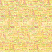 K and Company - Citronella Collection - 12 x 12 Foil Paper - Words