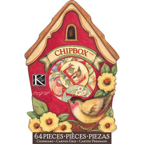 K and Company - Meadow Collection - Chipboard Box - Birdhouse
