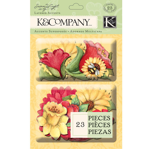 K and Company - Meadow Collection - Layered Accents - Floral