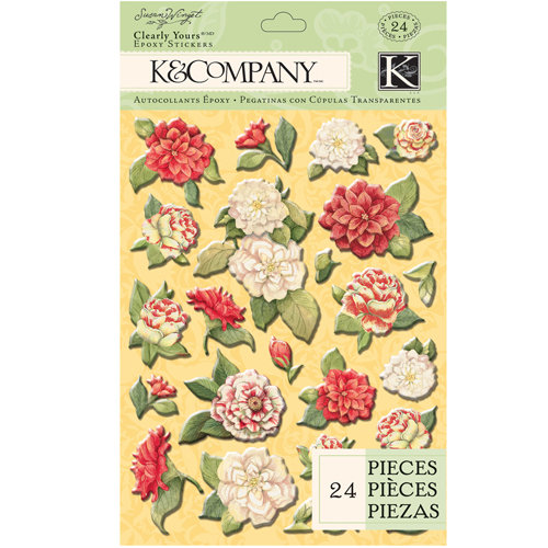 K and Company - Meadow Collection - Clearly Yours - Epoxy Stickers - Flower