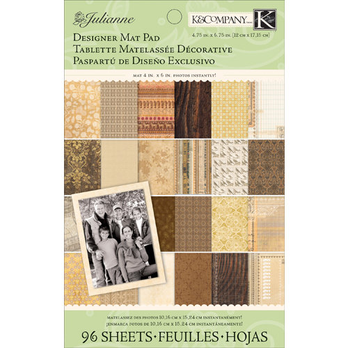 K and Company - Julianne Vintage Collection - Designer Mat Pad - Neutral