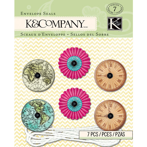 K and Company - Beyond Postmarks Collection - String Clasp Envelope Seals