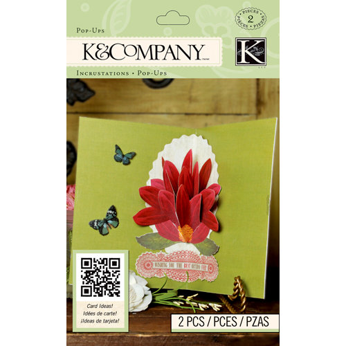 K and Company - Beyond Postmarks Collection - 3 Dimensional Pop-Ups - Large Floral