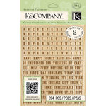 K and Company - Beyond Postmarks Collection - Adhesive Chipboard - Letterpress Alphabet and Word