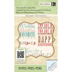 K and Company - Beyond Postmarks Collection - Vellum Sticker Pad - Floral Sentiments