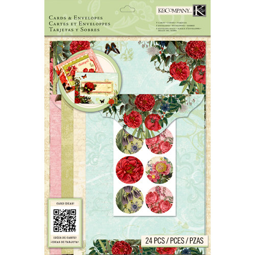 K and Company - Beyond Postmarks Collection - Cards and Envelopes - Botanical