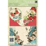 K and Company - Beyond Postmarks Collection - Die Cut Cards and Envelopes - Botanical