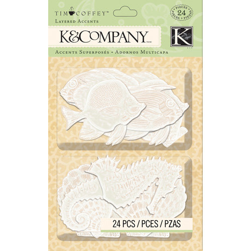 K and Company - Travel Collection - Vellum Layered Accents