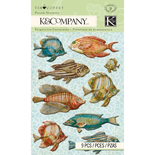 K and Company - Travel Collection - Pillow Stickers - Fish