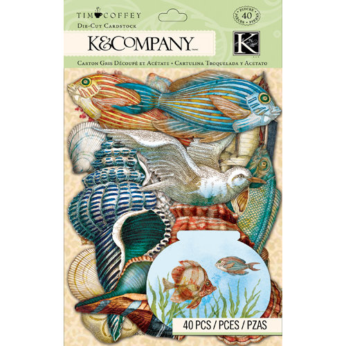 K and Company - Travel Collection - Die Cut Cardstock Pieces
