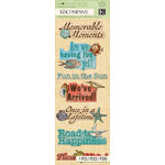 K and Company - Travel Collection - Adhesive Chipboard - Word