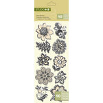 K and Company - Studio 112 Collection - Pillow Stickers - Flower