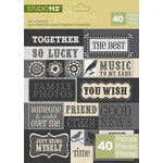 K and Company - Studio 112 Collection - Die Cut Stickers - Sayings
