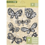 K and Company - Studio 112 Collection - 3 Dimensional Stickers - Butterfly