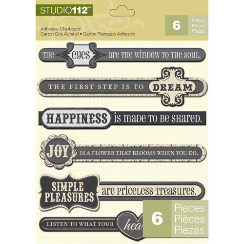 K and Company - Studio 112 Collection - Adhesive Chipboard - Inspiration