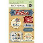K and Company - Grand Adhesions with Foil and Gem Accents - Dad