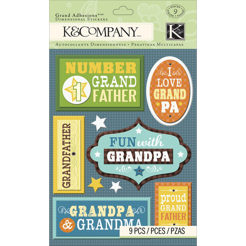 K and Company - Grand Adhesions with Gem and Glitter Accents - Grandpa