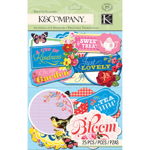K and Company - Bloomscape Collection - Die Cut Stickers - Label