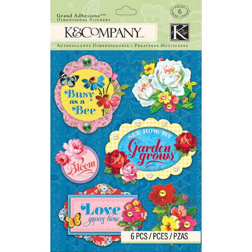 K and Company - Bloomscape Collection - Grand Adhesions - Floral