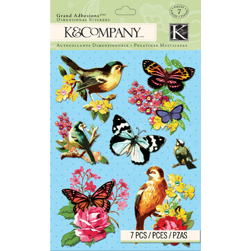 K and Company - Bloomscape Collection - Grand Adhesions - Butterfly