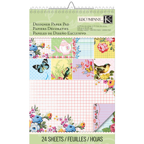 K and Company - Bloomscape Collection - Ledger Designer Paper Pad