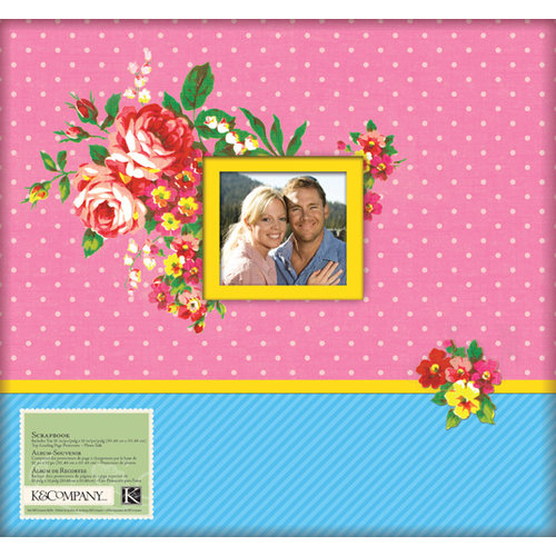K and Company - Bloomscape Collection - 12 x 12 Scrapbook Album