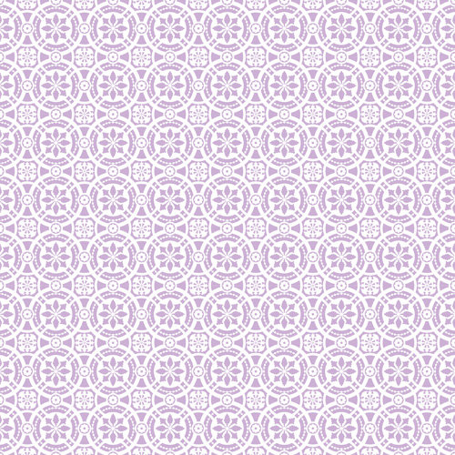 K and Company - Bloomscape Collection - 12 x 12 Paper with Varnish Accents - Lilac Tile