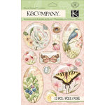 K and Company - Floral Collection - 3 Dimensional Stickers - Snow Globe