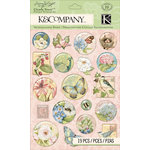 K and Company - Floral Collection - Clearly Yours - Epoxy Stickers - Icons