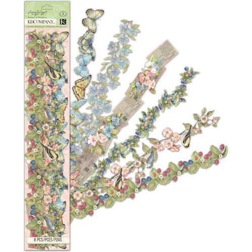 K and Company - Floral Collection - Acetate Adhesive Borders