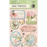 K and Company - Floral Collection - Grand Adhesions - Words