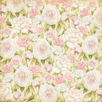 K and Company - Floral Collection - 12 x 12 Paper with Glitter Accents - Soft Roses