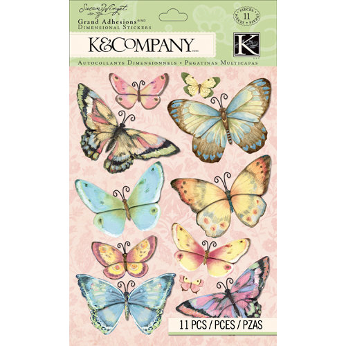 K and Company - Floral Collection - Grand Adhesions - Butterfly