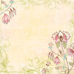 K and Company - Blossom Collection - 12 x 12 Paper with Glitter Accents - Floral