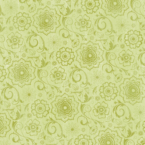 K and Company - Blossom Collection - 12 x 12 Paper - Green Garden