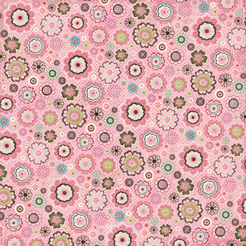 K and Company - Blossom Collection - 12 x 12 Paper - Pink Flowers