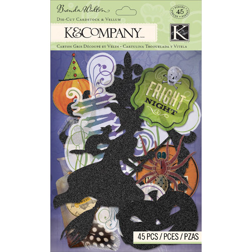 K and Company - Haunted Collection - Halloween - Die Cut Cardstock and Vellum Pieces
