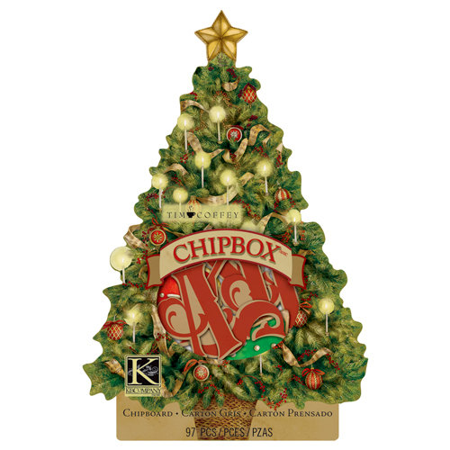 K and Company - Christmas 2012 Collection by Tim Coffey - Chipboard Box - Alphabet