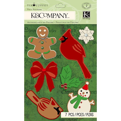 K and Company - Christmas 2012 Collection by Tim Coffey - Felt Stickers