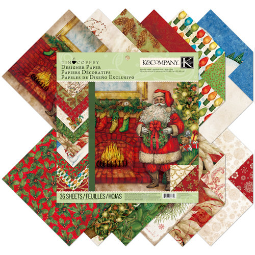 K and Company - Christmas 2012 Collection by Tim Coffey - 12 x 12 Designer Paper Pad