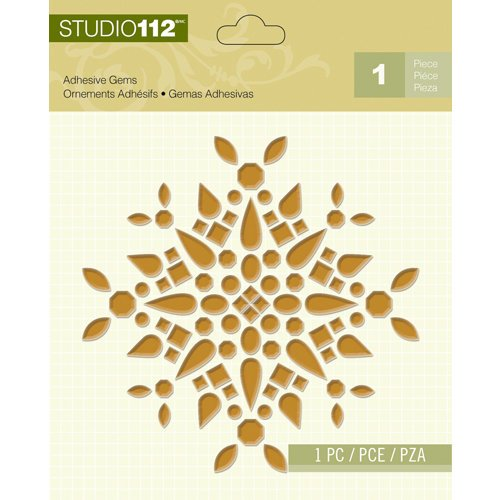 K and Company - Studio 112 Collection - Adhesive Gems - Gold Shape