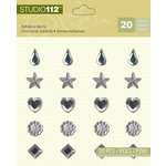 K and Company - Studio 112 Collection - Adhesive Gems - Clear Assortment