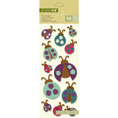 K and Company - Studio 112 Collection - Epoxy Stickers - Ladybug