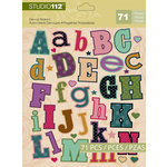 K and Company - Studio 112 Collection - Die Cut Stickers - Alphabet