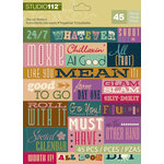 K and Company - Studio 112 Collection - Die Cut Stickers - Word