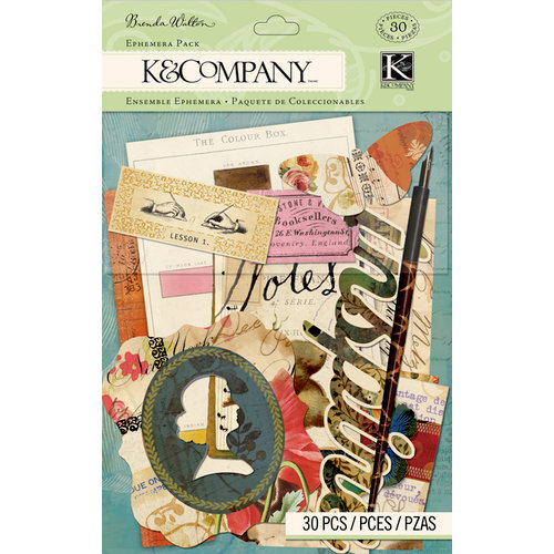 K and Company - Brenda Walton Collection - Ephemera Pack - Scribe