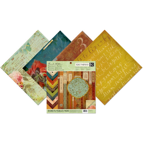 K and Company - Brenda Walton Collection - 12 x 12 Specialty Paper Pad - Scribe